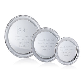 Silver Plated Mirror Trays