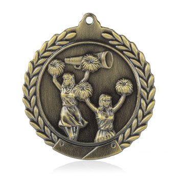 "Cheerleading 1 3/4""  Wreath Medal"