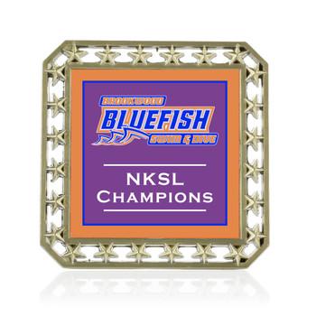 Stars Décor Medal with Custom Metal Emblem