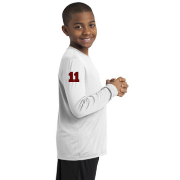 Youth Long Sleeve T White