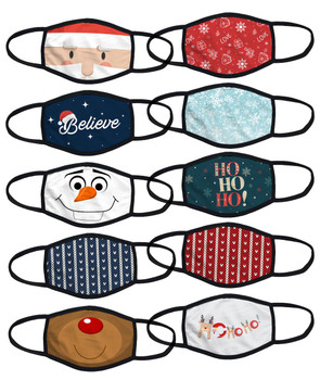 Holiday 3-Ply Printed Washable Fabric Face Mask