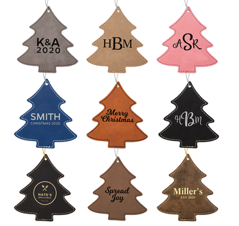 Leatherette Christmas Tree Ornament