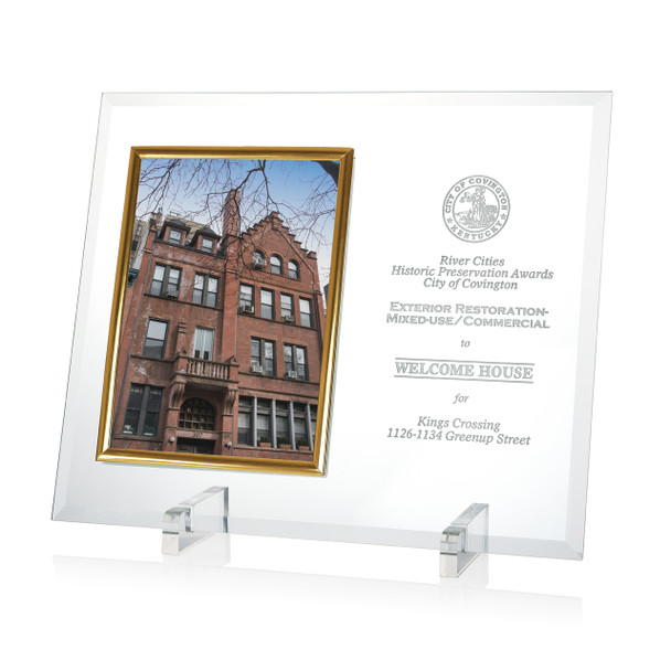 Glass Photo Plaque