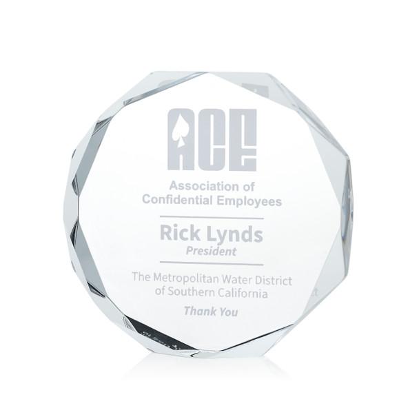 Octagon Paperweight Acrylic Award