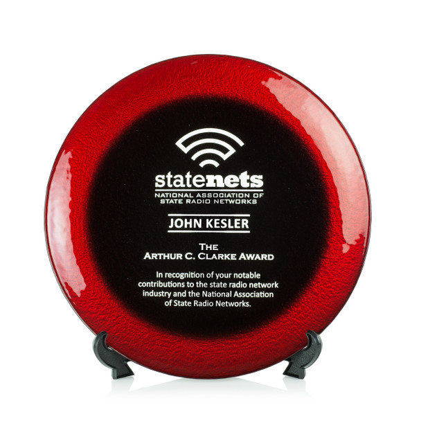 Allure Art Glass Award - Red