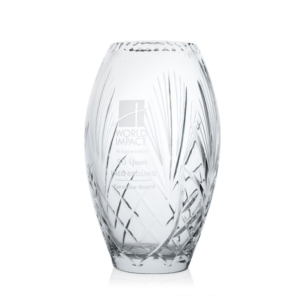 Accolade Crystal Award Vase