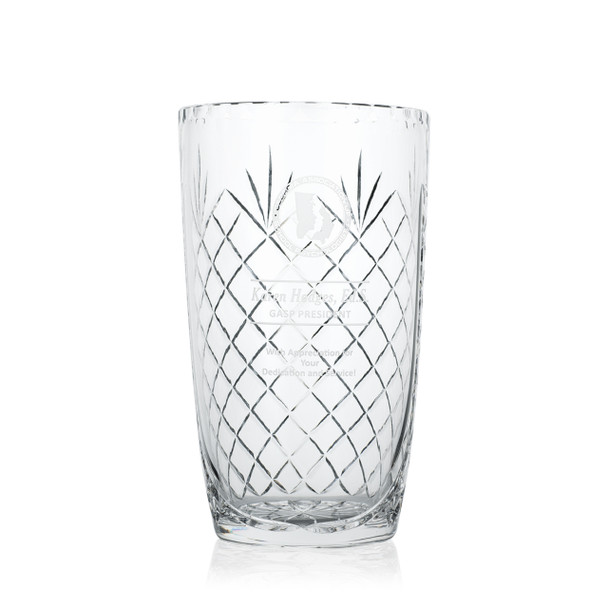 Hospitality Crystal Award Vase
