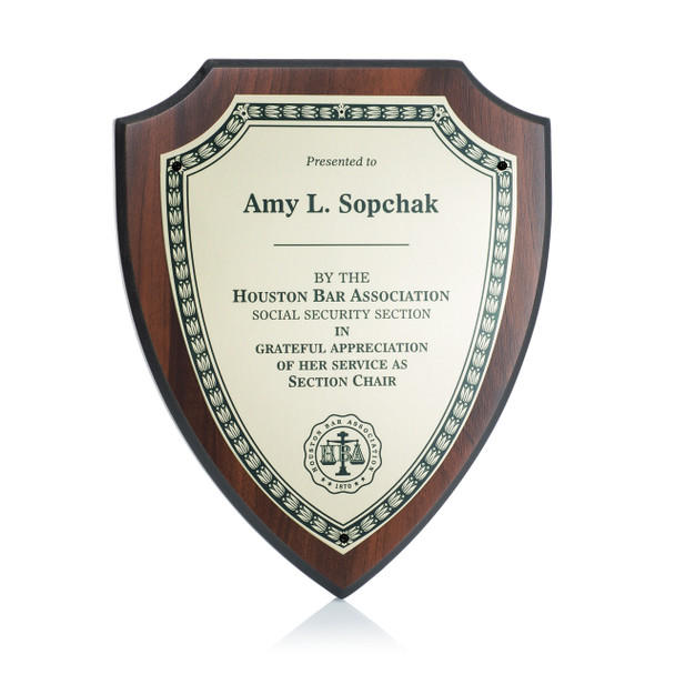 Shield Award Plaque