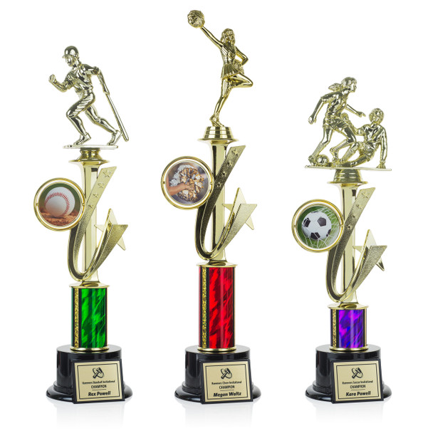 Shooting Star Series Trophies (3 Sizes)