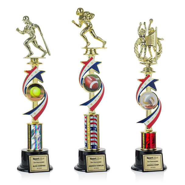 Stars & Stripes Series Trophies (3 Sizes)