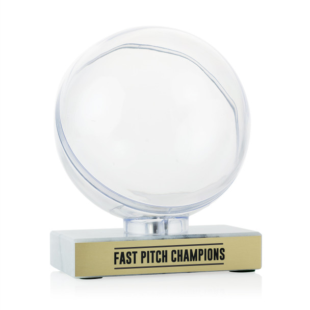 Softball Clear Display - Marble