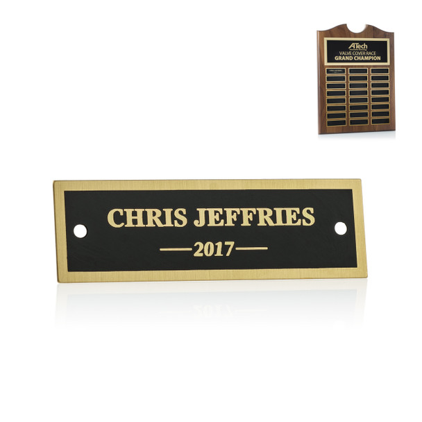 Black Roster Plaque Perpetual Plate