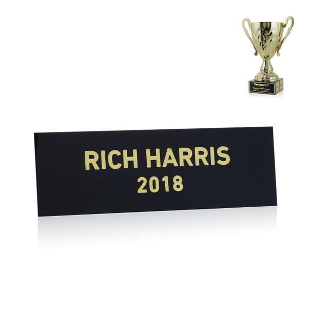 Gold Metal Cup Trophy Perpetual Plate