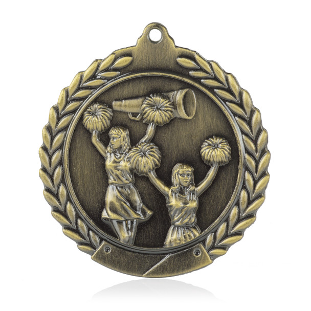 "Cheerleading 1 3/4""  Wreath Medal"