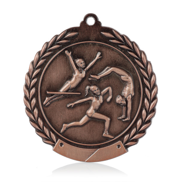 "Gymnastics 1 3/4""  Wreath Medal"