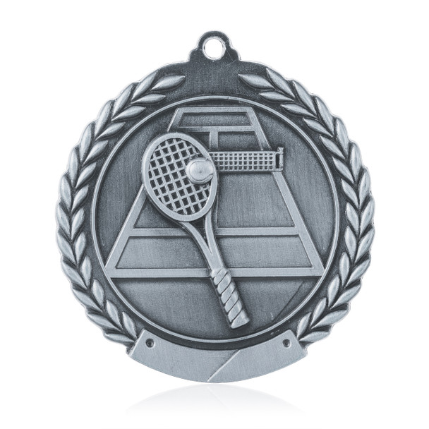"Tennis 1 3/4""  Wreath Medal"