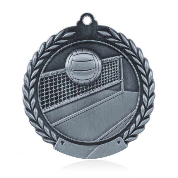 """Volleyball 1 3/4""""  Wreath Medal"""