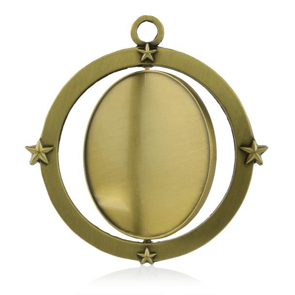 Spinner Medal with Custom Metal Emblems