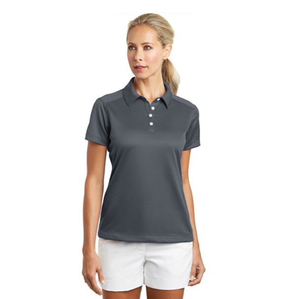 NIKE Ladies Dri Fit Pebble Polo
