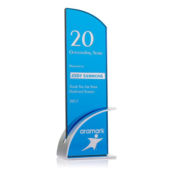 Optimist Blue Optical Crystal Award