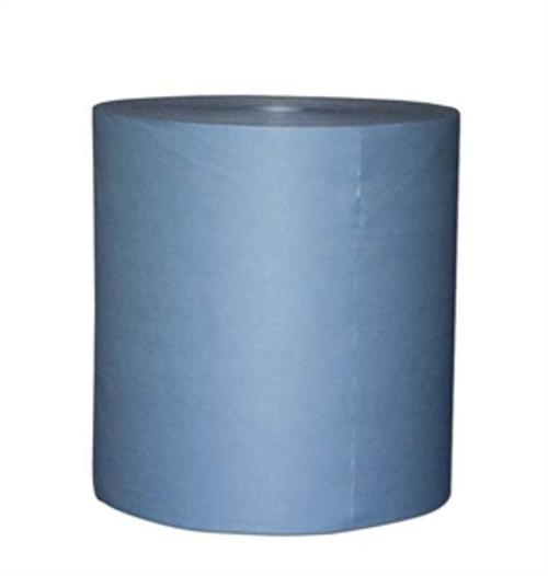 "Blue Spunlace Jumbo Roll smooth 12"" x 14"""