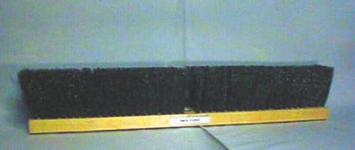 """SWEEP GARAGE 24"""" PLASTIC BROOM  WOODEN BLOCK HEAD ONLY"""