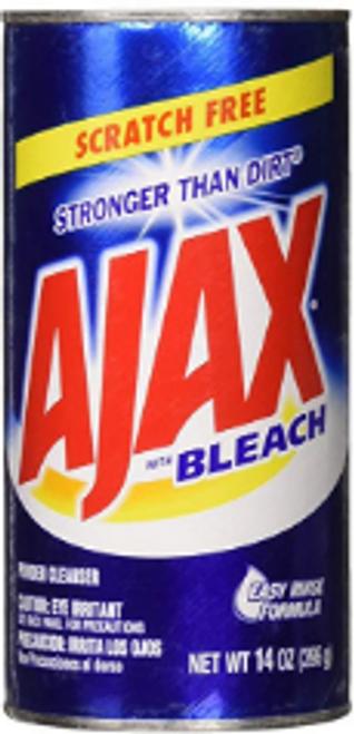 CLEANSER AJAX W/BLEACH 14Z PK/24