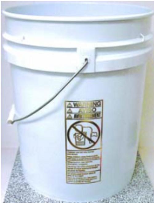 BKT 5 GAL PLASTIC PAIL (WHITE) W/WIRE HANDLE