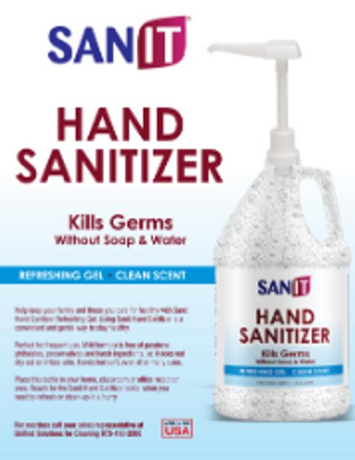 CLEANR HND SANITZR 4X1GL W/1 PUMP