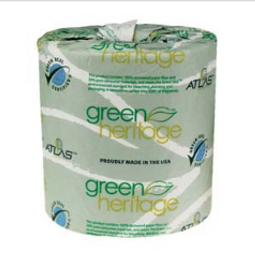 """PAPR TISSUE 1000-1 PLY PK/96 GREEN (4.4""""X3.8"""")GREEN HERITAGE/20SK"""