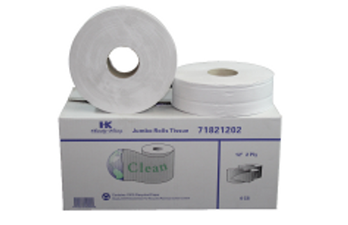 """PAPR JRT SR 2PLY 12"""" CLEAN RECYCLED"""