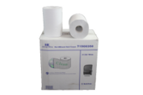 PAPR ROLL TOWEL 350 WHITE (12)CLEAN