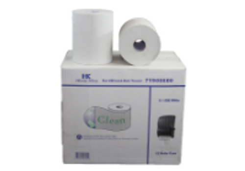 PAPR ROLL TOWEL 600 WHITE (12)CLEAN
