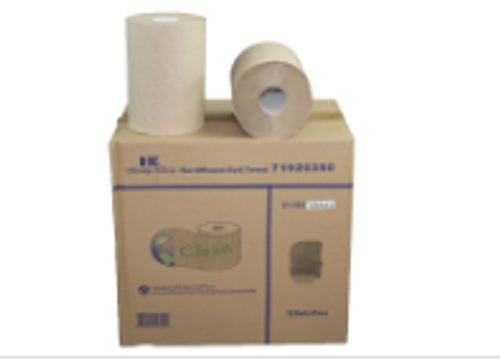 PAPR ROLL TOWEL 350 KRAFT (12)CLEAN
