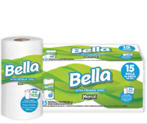 PAPR ROLL TOWEL 52 2PLY BELLA(15)