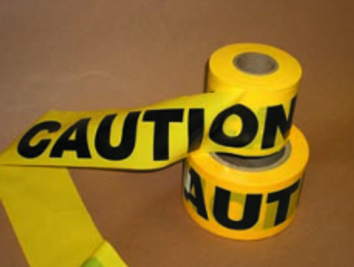 "TAPE CAUTION/BARICADE 3""X1000'"