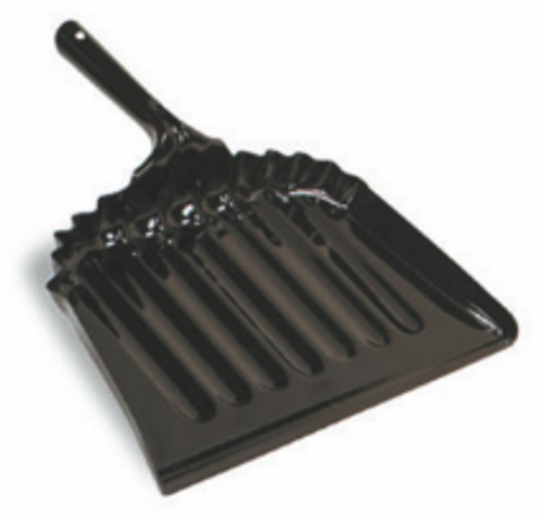 "DUST PAN METAL 12"" BLACK ENAMEL"