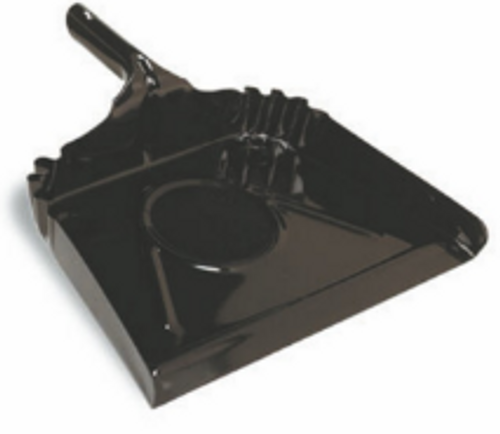 "DUST PAN METAL 16"" BLACK ENAMEL"