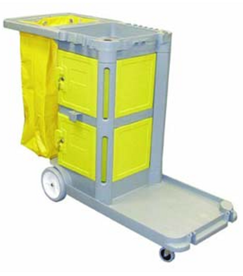 CART JANITORS W/YEL BAG HK160