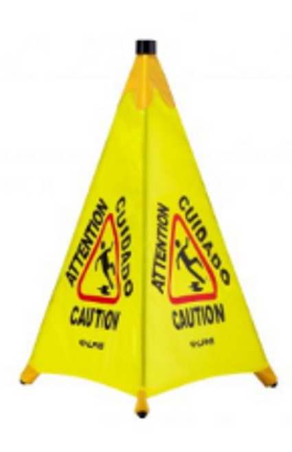 """SGN FLR POP UP CONE/TUBE 30"""""""