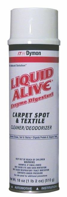 CARPET CLEANER SPOT ENZYM  LIQUID ALIVE DIGESTANT 18OZ 12/CS