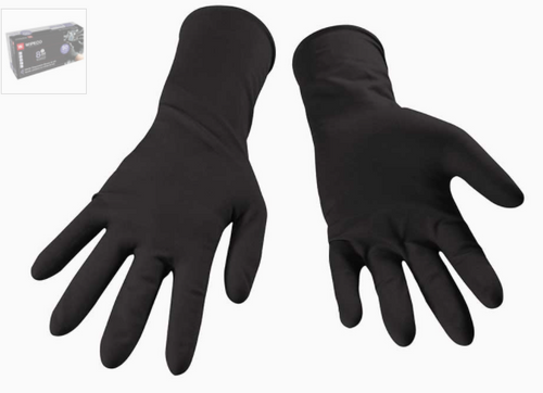 Nitrile Glove 8 mil Black Disposable Extended Cuff