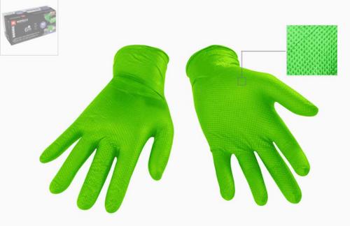 Nitrile Textured  Glove 6 mil Green Diamond