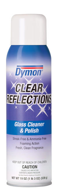 GLASS CLEANER CLEAR REFLECTION MIRROR & GLASS AEROSOL 18 OZ 12/ PK