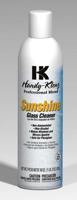 GLASS CLEANER SUNSHINE AEROSOL W/AMMONIA SUNSHINE 18Z 12/CS