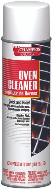 OVEN CLEANER AEROSOL CHAMPION GRILLS OVENS PANS 18 OZ X 12 PER CASE