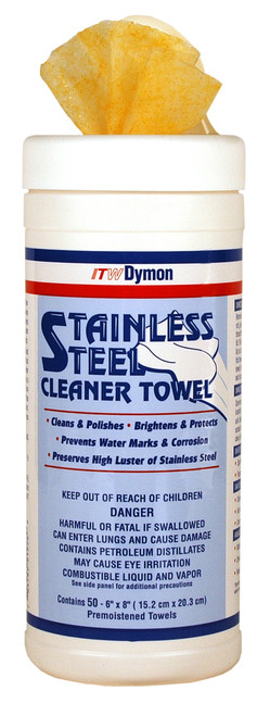 """SCRUBS STAINLESS STEEL 6"""" X 8"""" POLISH CLEANER  6 X 50 WIPE CONTAINERS"""