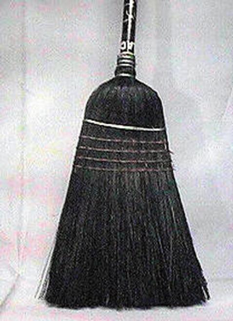 """BROOM IND BLACK CORN BROOM 1/8X42""""BLACK HANDLE"""