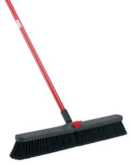 """SWEEP POLY SMOOTH SURF 24""""WITH 60"""" HANDLE-3""""FINE-DUTY"""