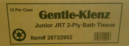 "BATH TISSUE JRT JUNIOR GENTLE- KLENZ JUMBO 9""  2 PLY  X 12 ROLLS PER CASE"
